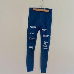 Topshop Moto Ripped Joni Jeans